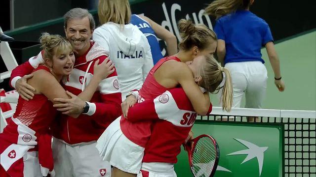Tennis, Fed Cup, Suisse - Italie, 1er tour: 2-0 pour la Suisse grâce à Golubic [RTS]