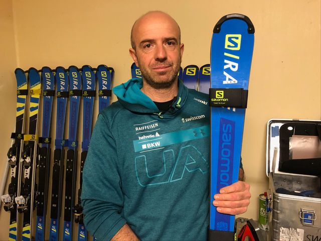 Fabio Vierin est le skiman de Luca Aerni depuis 3 ans. [RTS]