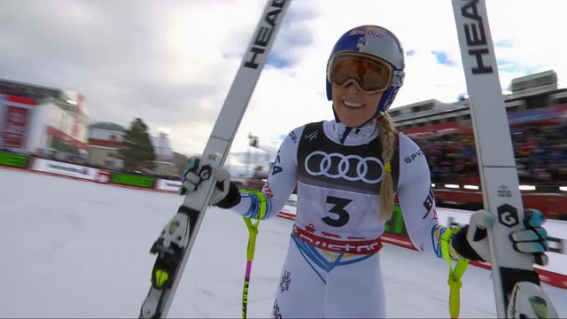 Are (SWE), descente dames: Lindsey Vonn (USA) [RTS]