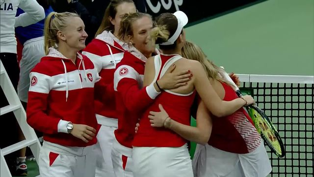 Tennis, Fed Cup: Suisse - Italie (3-0) [RTS]