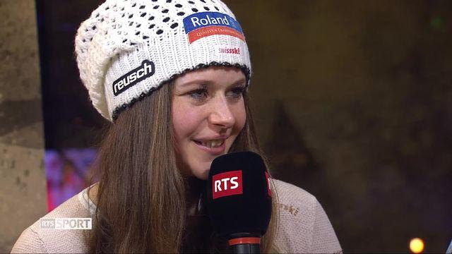 Ski alpin: entrevue avec Corinne Suter, vice-championne du monde de descente [RTS]