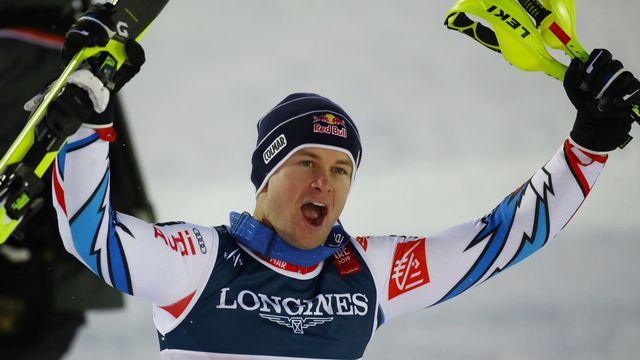 Pinturault décroche son premier titre individuel dans des championnats du monde. [Alessandro Trovati - Keystone]