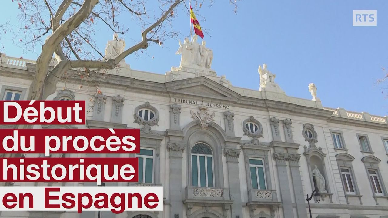 Début du procès historique de dirigeants indépendantistes catalans [RTS]