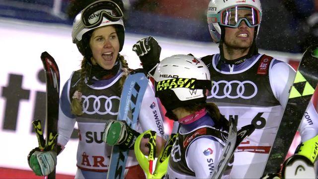 Are (SWE), Team Event, 1-4: la Suisse bat la Suède grâce à un meilleur temps [RTS]