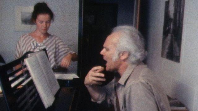 Le chef de choeur et d'orchestre Michel Corboz en 1982. [RTS]