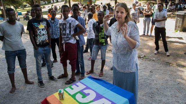 La députée PS tessinoise Lisa Bosia Mirra a été condamnée en 2017 pour avoir aidé des migrants. [Davide Agosta - Ti-Press/Keystone]