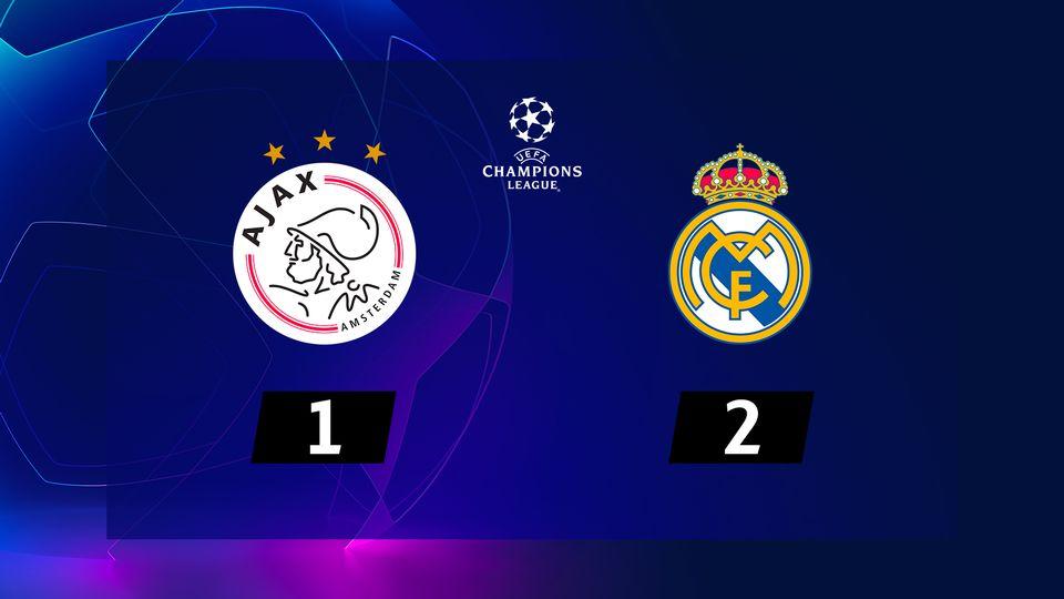 1-8e aller, Ajax Amsterdam - Real Madrid (1-2): le résumé de la rencontre