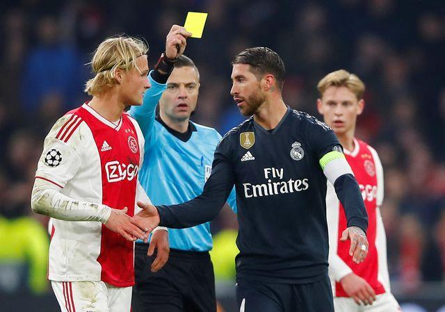 Le défenseur du Real a été averti en toute fin de match. [Wolfgang Rattay - Reuters]