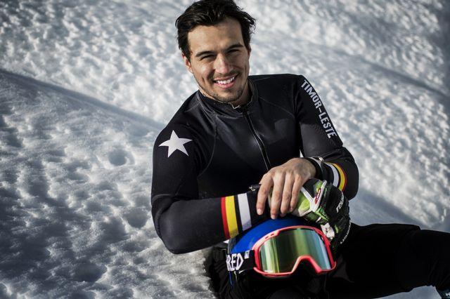 Yohan Goutt Goncalves skie sous les couleurs du Timor. [Jeff Pachoud - AFP]