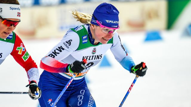 Nadine Fähndrich doit se consoler avec un top-10. [Markku Ojala - Keystone]
