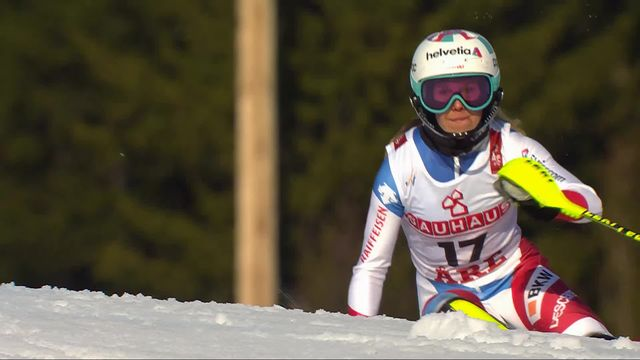 Are (SWE), slalom dames, 2e manche: la course de Danioth (SUI) [RTS]