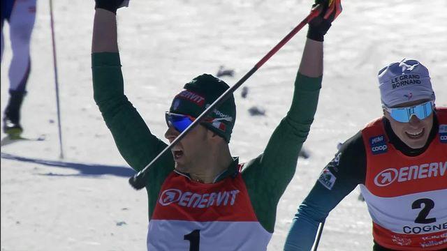 Federico Pelegrino (ITA) et Jessica Diggins (USA) s'imposent, Jovian Hediger et Nadine Fähndrich, meilleurs Suisses, 9èmes [RTS]