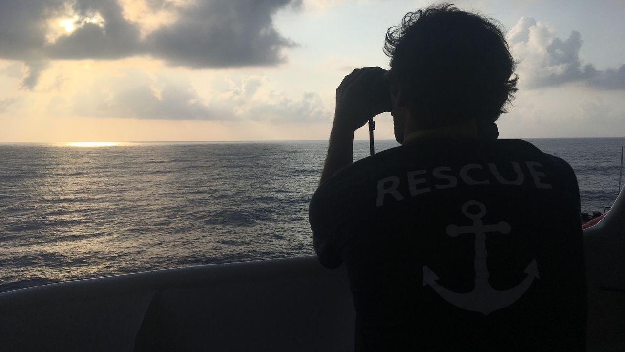 Un marin sauveteur à bord de l'Aquarius en août 2018. [Maurine Mercier - RTS]