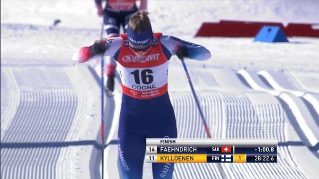Cogne (ITA), 10km dames: premier podium pour Faehndrich (SUI) avec une magnifique 2e place [RTS]