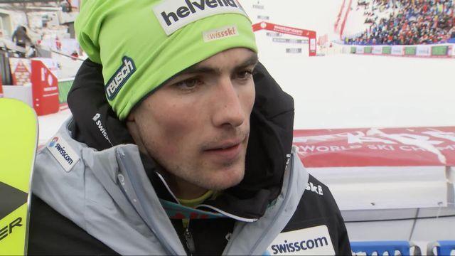 Are (SWE), slalom messieurs, 1re manche: la déception de Daniel Yule (SUI) au micro de la RTS [RTS]