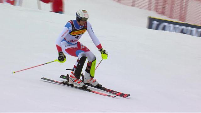 Are (SWE), slalom messieurs, 2e manche: Ramon Zenhaeusern (SUI) [RTS]