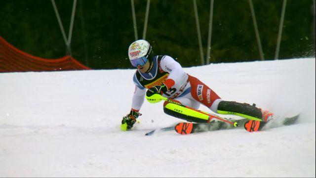 Are (SWE), slalom messieurs, 2e manche: Loic Meillard (SUI) [RTS]