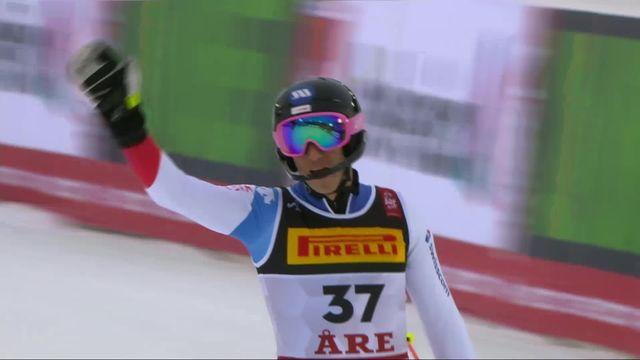 Are (SWE), slalom messieurs, 2e manche: Tanguy Nef (SUI) [RTS]