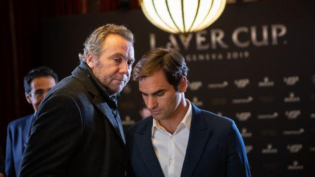 Roger Federer suivi de Marc Rosset [RTS]