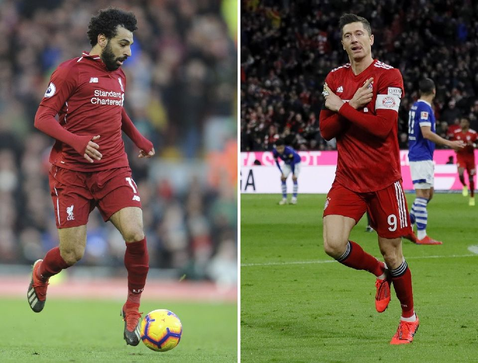 Mohamed Salah et Robert Lewandowski croiseront le fer mardi soir à Anfield Road. [R.Vieira/R.Wittek - Keystone]