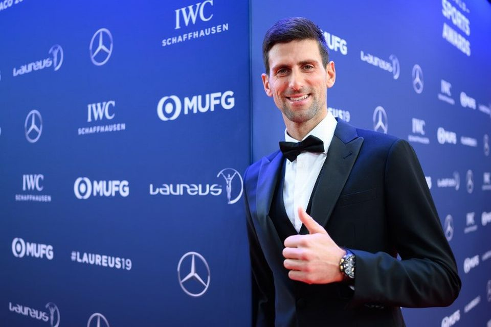Novak Djokovic s'est vu récompenser de sa magnifique année 2018. [AFP]