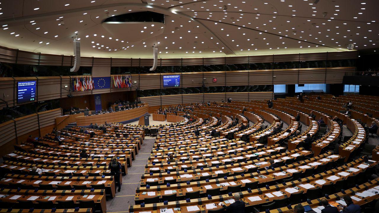 Vue générale du Parlement européen. [Francisco Seco/AP - Keystone]