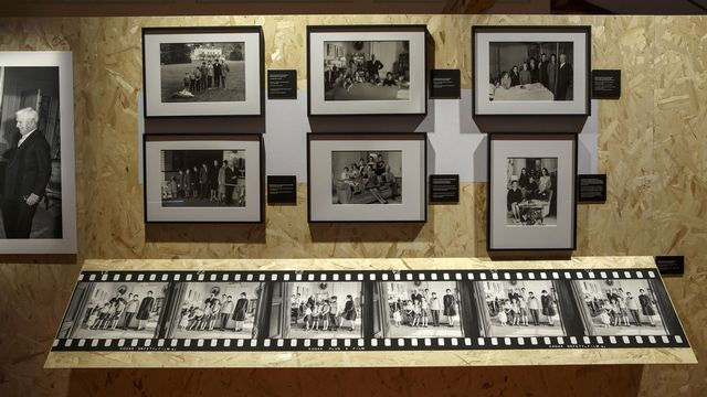 "L'exposition ""Chaplin Personal 1952-1973"" au Chaplin's Worlds. [Salvatore Di Nolfi - Keystone]"