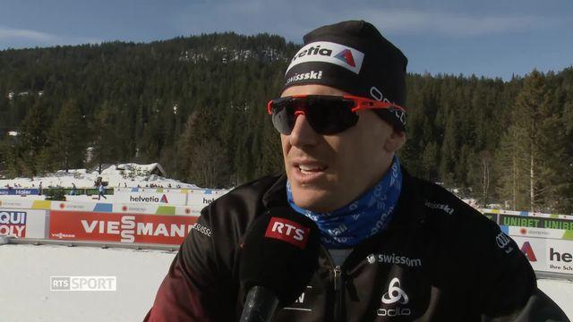 Mondiaux de Seefeld, sprint messieurs: Jovian Hediger à l'interview [RTS]