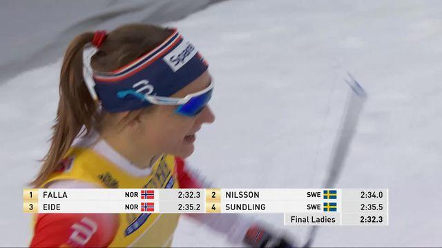 Championnat du monde Ski de fond: Falla  (NOR) championne du monde [RTS]