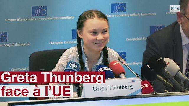 Greta Thunberg face à l'UE [RTS]
