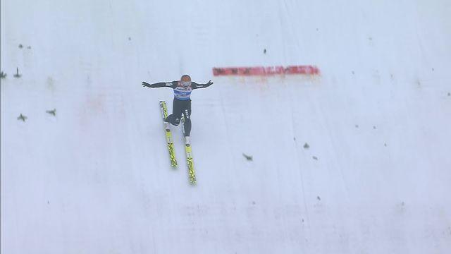 Mondiaux de Seefeld, combiné nordique, saut à ski: Tim Hug (SUI) [RTS]