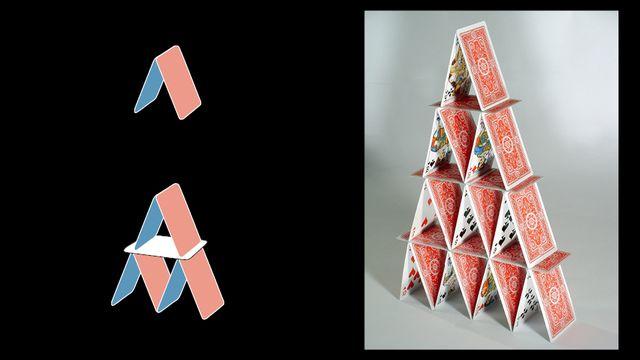 Le château de cartes [Mathscope - UNIGE]