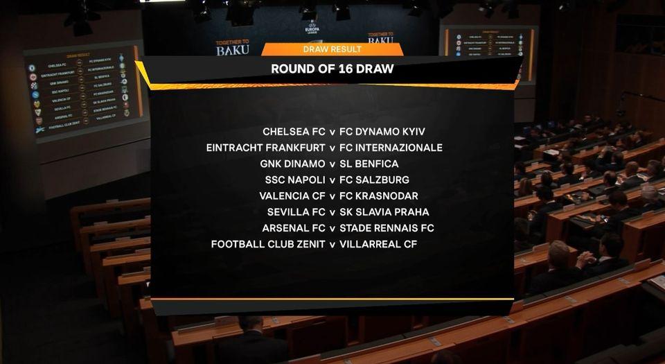 Les affiches des 8es de finale de l'Europa League. [RTS]
