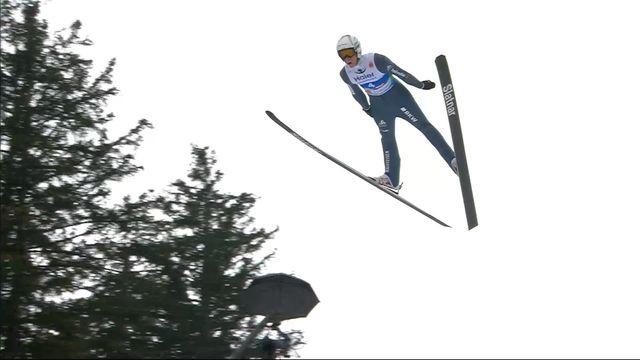 Mondiaux de Seefeld, qualifs saut à ski HS 130 messieurs: Luca Egloff (SUI) [RTS]