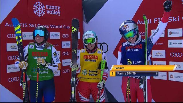 Sunny Valley (RUS), finale dames: Fanny Smith s'impose devant Naeslund (SWE) et Limbacher (AUT)! [RTS]