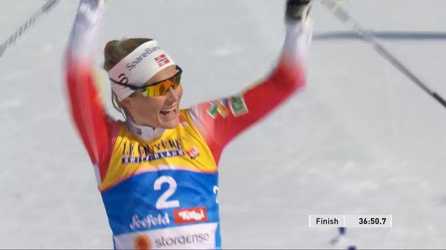 Mondiaux de Seefeld, skiathlon 15km dames: Therese Johaug (NOR) championne du monde, Von Siebenthal termine 18ème [RTS]
