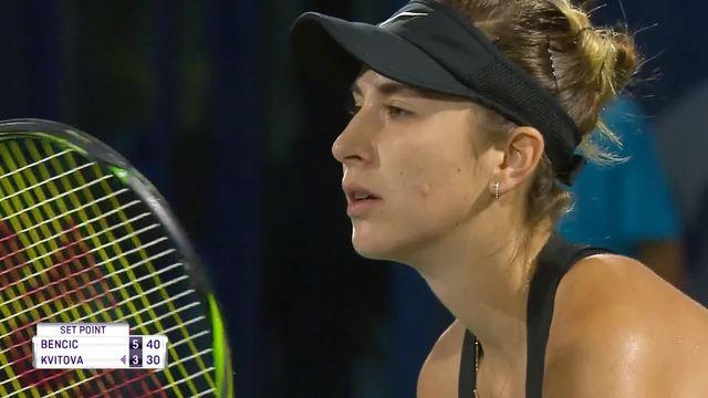 WTA Dubaï, finale, B.Bencic (SUI) – P.Kvitova (CZE) (6-3): première manche pour Belinda Bencic! [RTS]