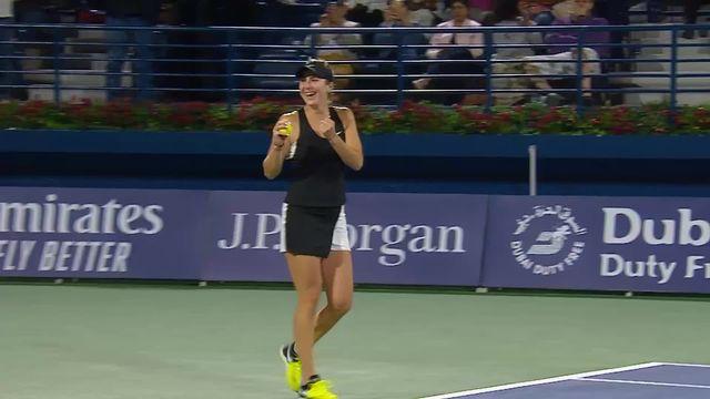 WTA Dubaï, finale, B.Bencic (SUI) bat P.Kvitova (CZE) (6-3, 1-6, 6-2) et remporte son 3ème titre sur le circuit WTA! [RTS]