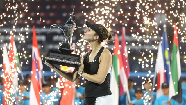 Belinda Bencic aura réussi une semaine exceptionnelle à Dubaï. [AFP]