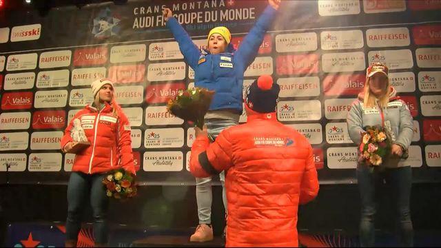 Crans-Montana (SUI), descente dames: les Suissesses Joana Hählen et Lara Gut-Behrami récompensées après leur podium [RTS]