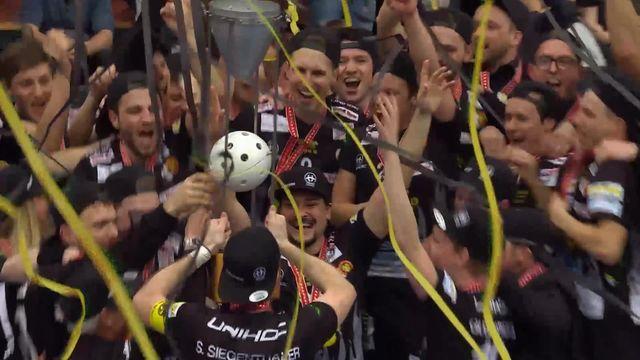 Coupe de Suisse, finale messieurs, Tigers Langnau – GC Unihockey (8-8, 4-3 tb): les highlights de la rencontre [RTS]