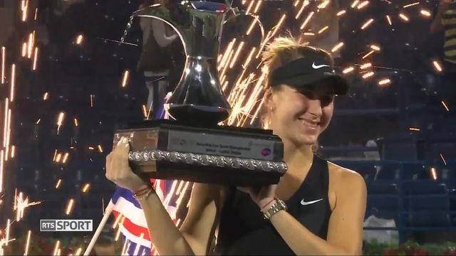 WTA Dubaï, finale: magnifique victoire de Belinda Bencic [RTS]