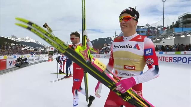 Seefeld (AUT), finale sprint par équipe messieurs: victoire de la Norvège devant la Russie 2e et l'Italie 3e [RTS]