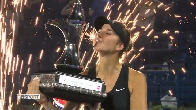 Tennis, WTA Dubaï: Bencic domine Kvitova et remporte son 3e titre [RTS]