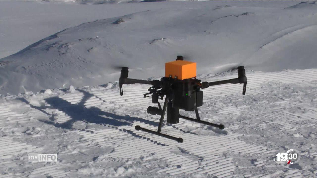 Les drones ouvrent de grands espoirs dans le sauvetage en montagne [RTS]
