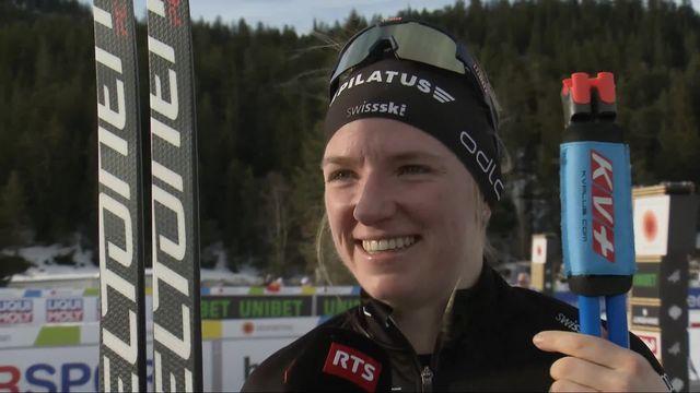 Seefeld (AUT), 10km dames: Nadine Faehndrich (SUI) à l'interview [RTS]