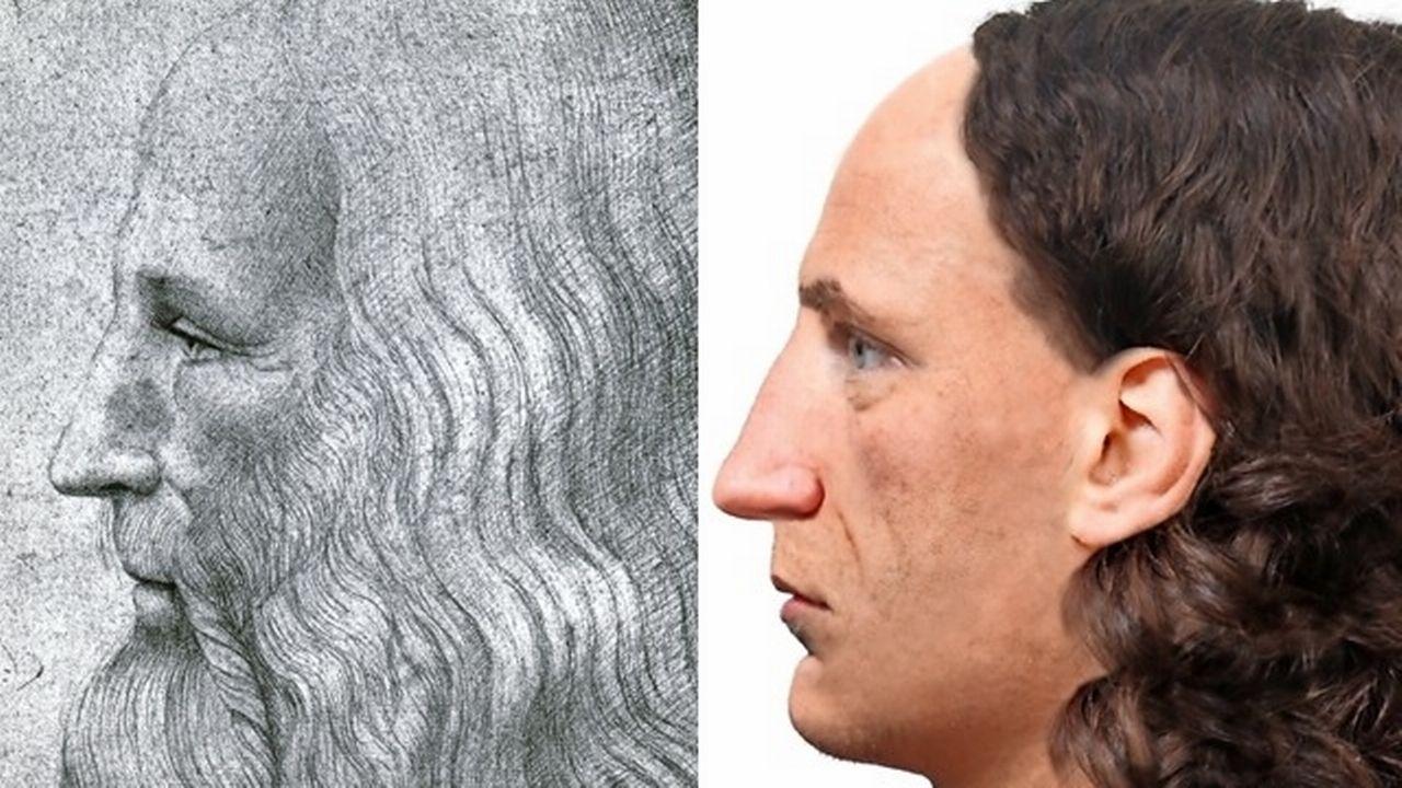 Des experts de l'Institut médico-légal de Zurich ont créé une image fantôme de Léonard de Vinci. [epfz]