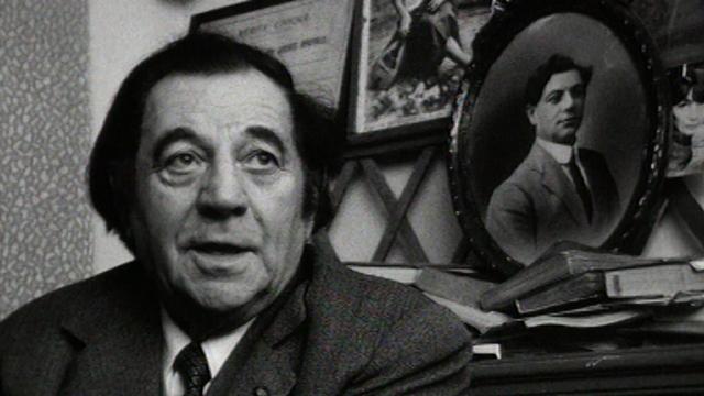 Marcel Bernard, ancien artiste dramatique, 1973. [RTS]