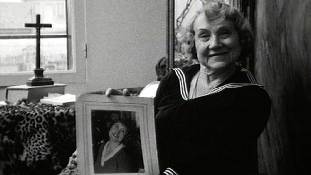 Simone Baret, pensionnaire de la Fondation Dranem-Maurice Chevalier. [RTS]