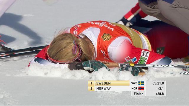 Mondiaux de Seefeld, relais 4x5km dames: la Suède s'impose devant les Norvégiennes et les Russes [RTS]